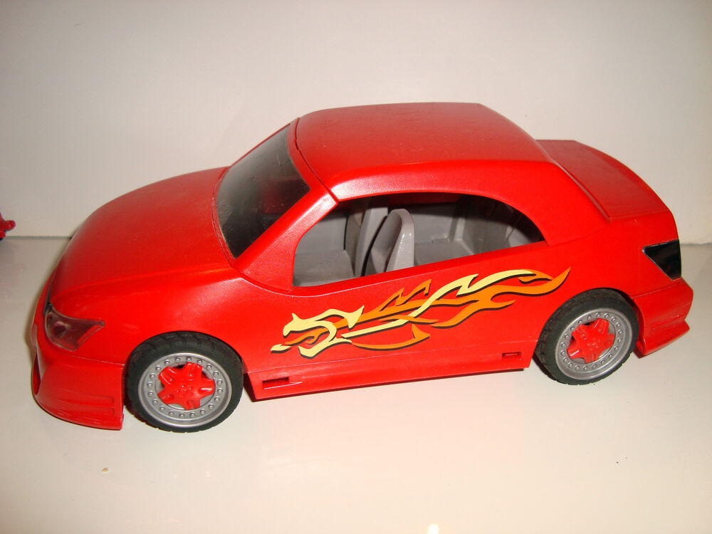 vehicule playmobil 4321 voiture de sport tuning rouge red car sport 11x22cm ebay. Black Bedroom Furniture Sets. Home Design Ideas