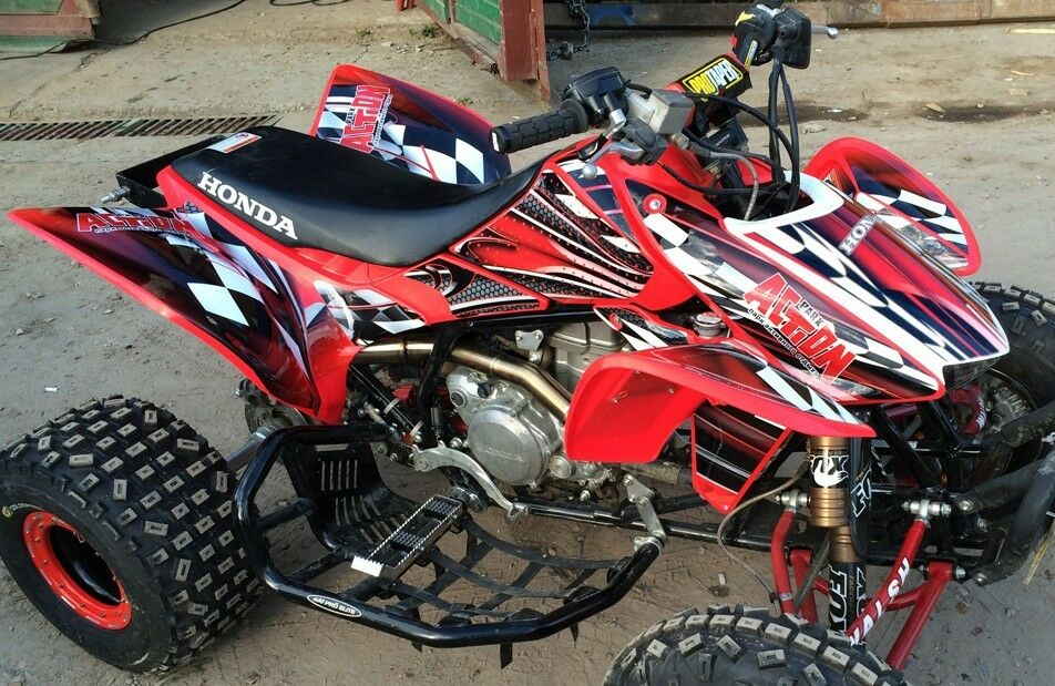 Trx 450r Graphics Honda 450 Atv Sticker Kit Free Custom