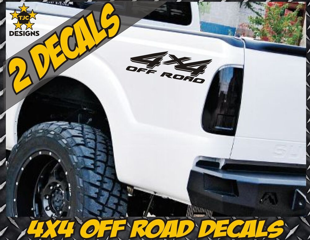 4x4 Truck Bed Decals Gloss Black Set For Ford Super