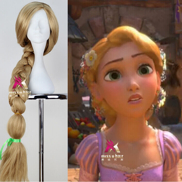 Tangled,Rapunzel Long Blonde Styled Braid Full Hair ...