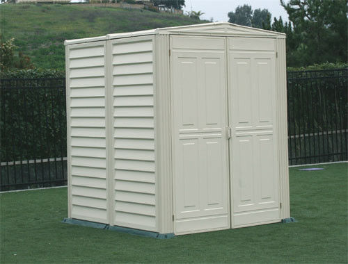 Duramax sheds 5x5 yardmate vinyl outdoor storage shed kit for Vinyl storage sheds