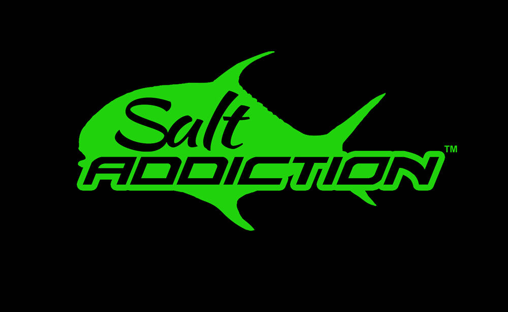 Salt addiction decal permit salt water fishing decal for Saltwater fishing decals