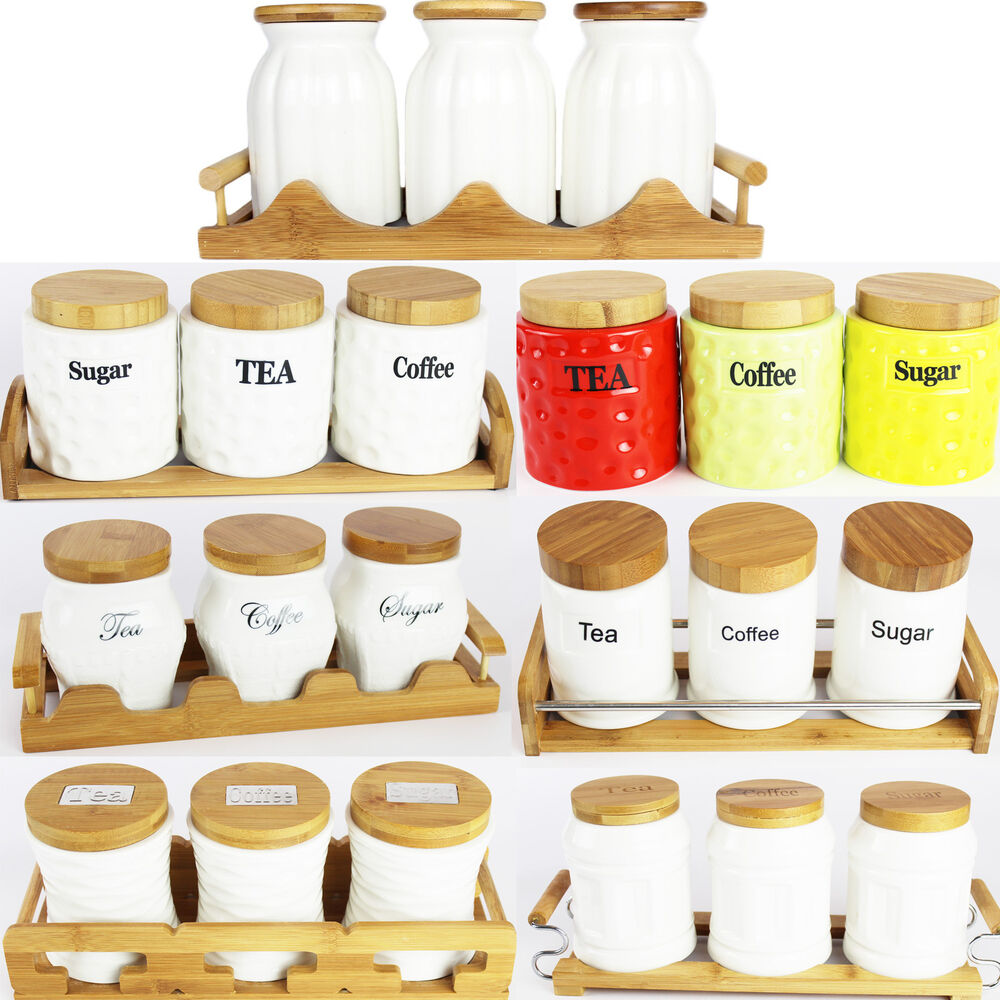 Amazing Style Tea Coffee Sugar Jars Ceramic Canisters With