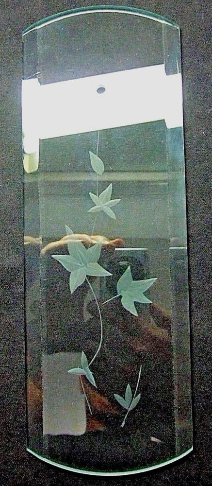 1 Glass Panel 2 Radiuses Bevels Ivy Branch Leaves