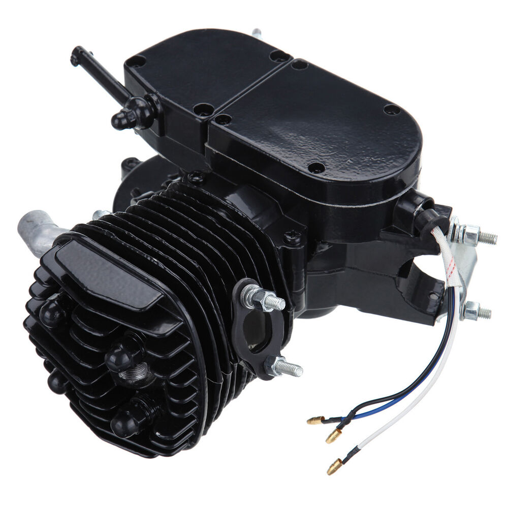 Black 80cc 2 Stroke Engine For Motorized Bicycle Bike New