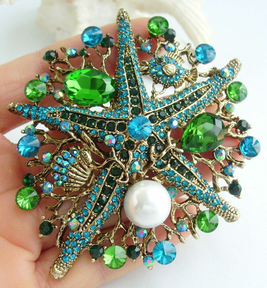 Costume jewelry turquoise green rhinestone crystal for Turquoise colored fashion jewelry