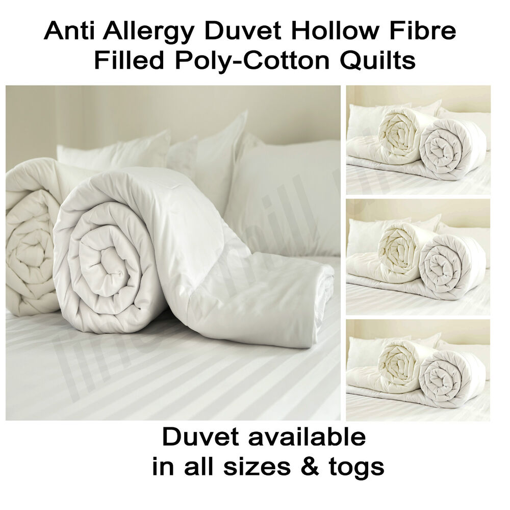 Brand New Anti Allergy Duvet Hollow Fibre Filled Poly