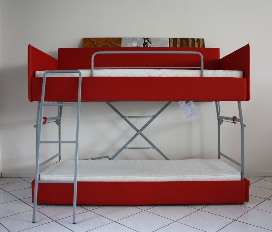 Sofa bed bunk with innovative mechanism with mattresses included.MADE