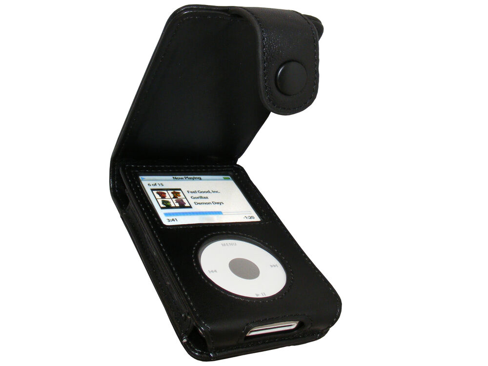 black leather case cover for apple ipod classic 80gb 120gb. Black Bedroom Furniture Sets. Home Design Ideas