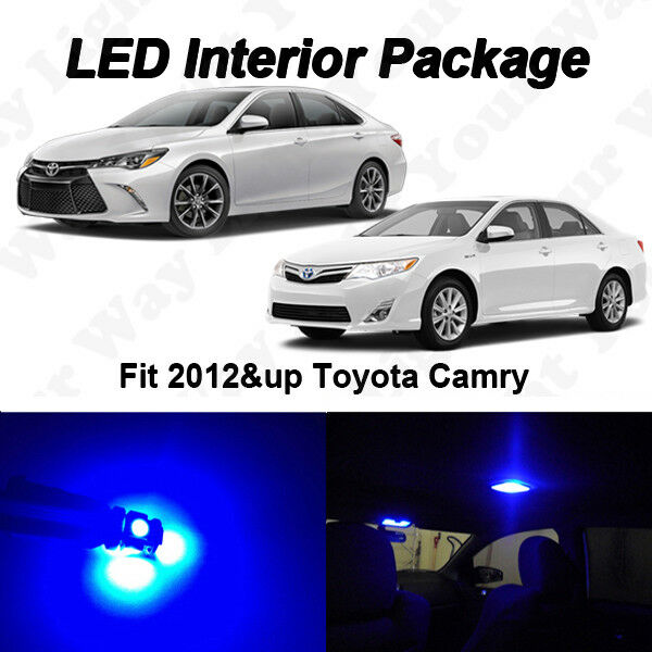 12 x 2016 2017 toyota camry white smd led interior package license plate lights ebay. Black Bedroom Furniture Sets. Home Design Ideas