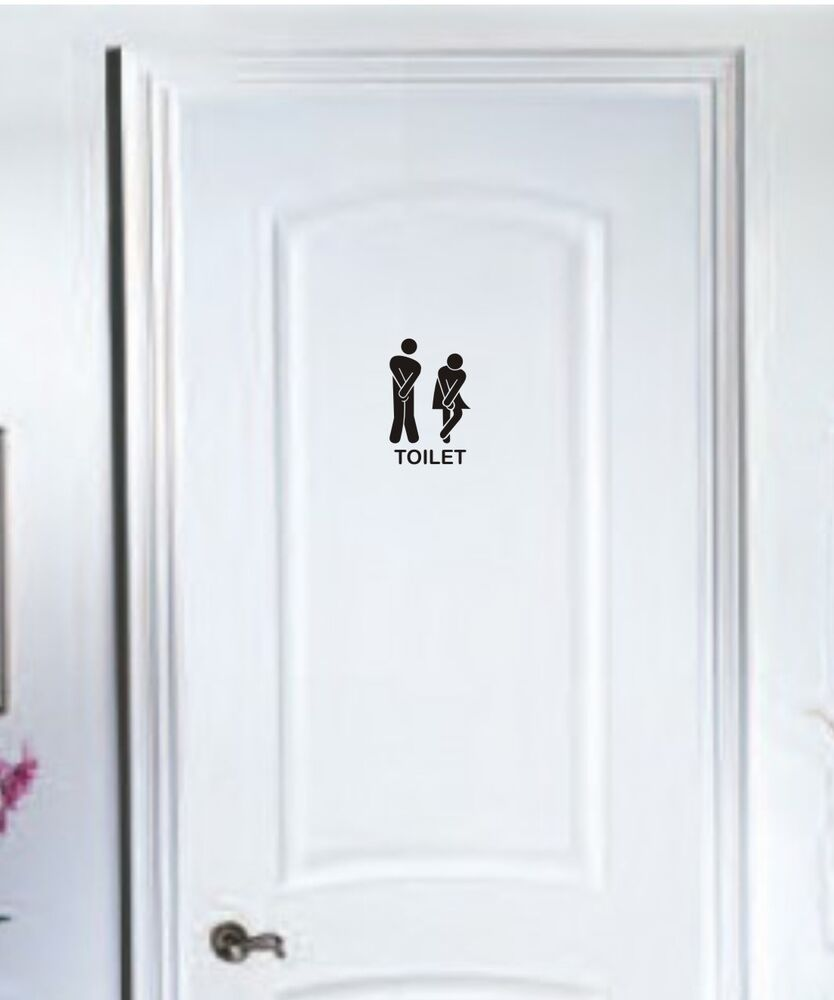 toilet door stick man women wall stickers vinyl decals