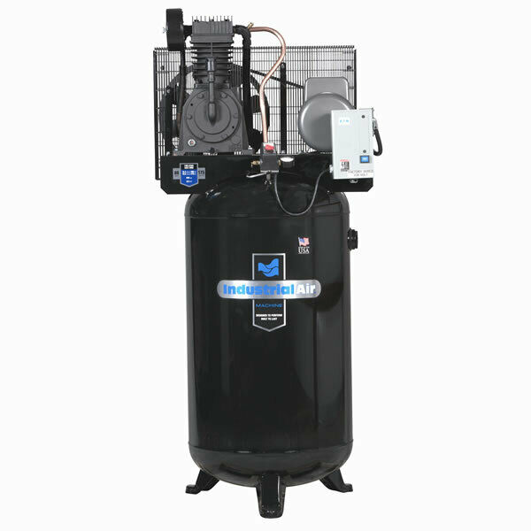 industrial air 5 hp 80 gallon two stage air compressor with starter ebay Air Compressor Installation Diagram Compressor Relay Wiring Diagram