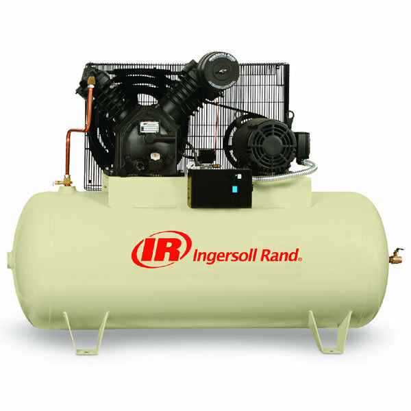Ingersoll Rand 10 Hp 120 Gallon Horizontal Two Stage Air