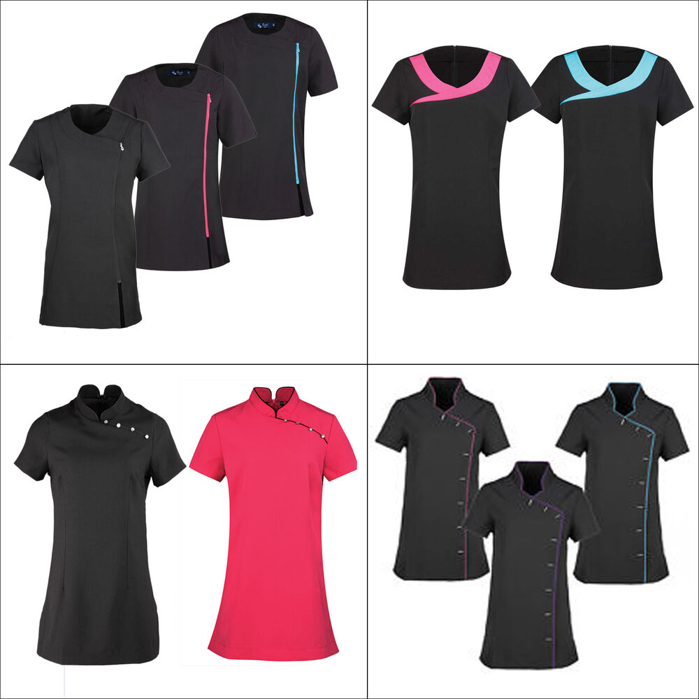 New premier spa beauty tunic s salon nail hairdressers for Uniform nail spa