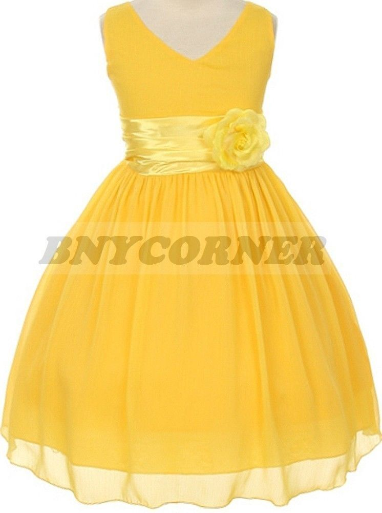 Yellow Flower Girl Shoes