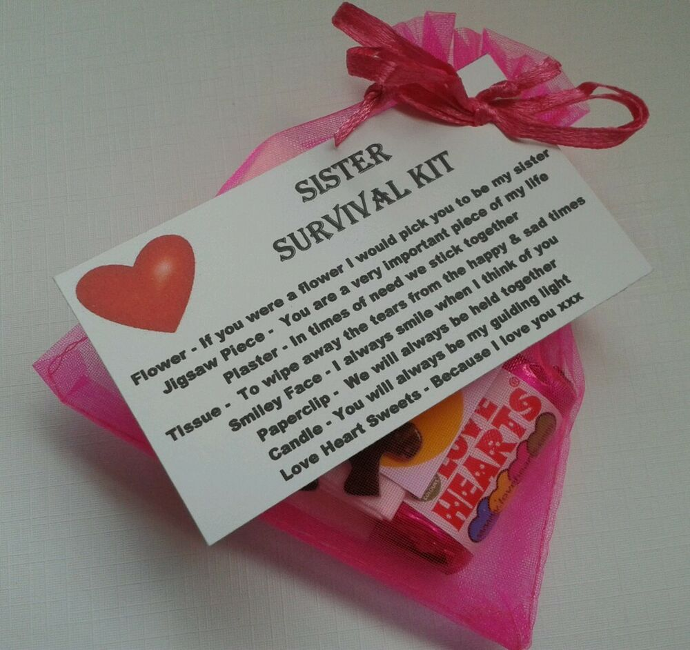 18th Birthday Survival Kit Birthday Gift Novelty Present: Sister Sister`s Survival Kit KEEPSAKE For Birthday