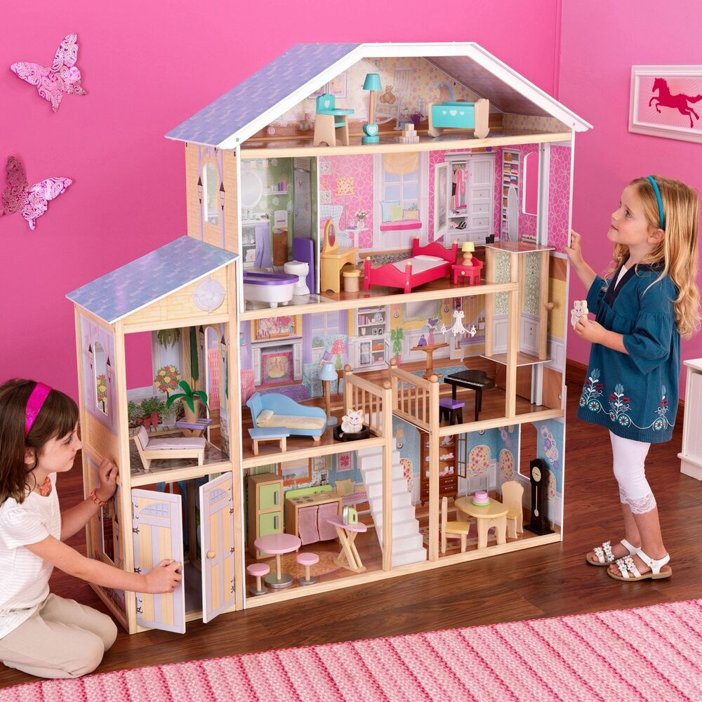 Dolls house at argos co uk your online shop for dolls houses dolls - New Kidkraft Majestic Mansion Doll House Large Furniture Kids Play