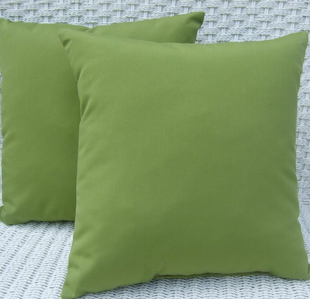 2 Pack ~ Kiwi Green Decorative Indoor Outdoor Throw Toss Pillow Made In USA eBay