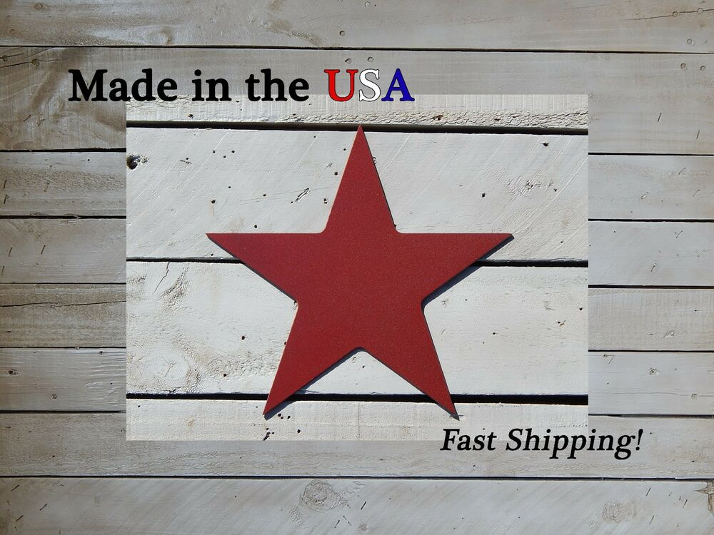 Star metal sign home decor barn wall artwork star for Star home decorations
