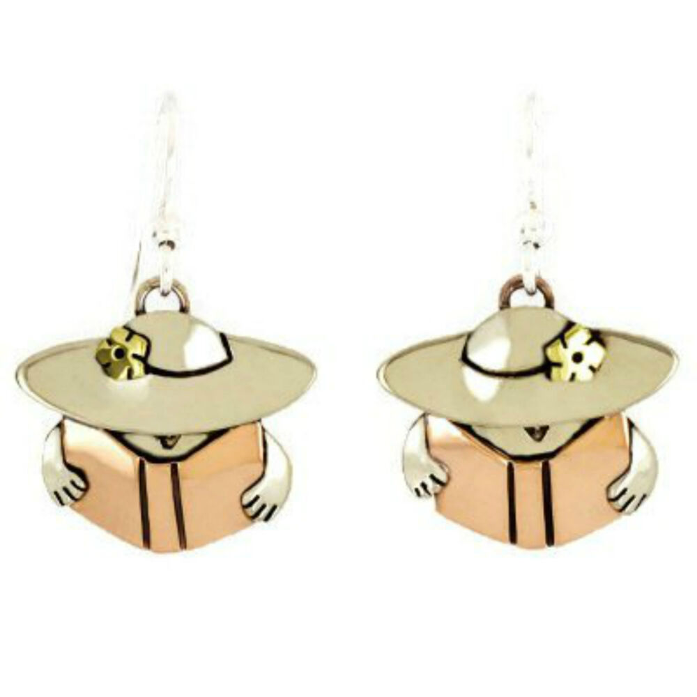 Reading Earrings: Hat Lady Reading Book Earrings Mima Oly Librarian Teacher