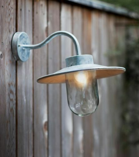 Garden Trading Outdoor Wall Lights : Garden Trading St Ives Swan Neck Galvanised Steel Outdoor Wall Light Lamp eBay