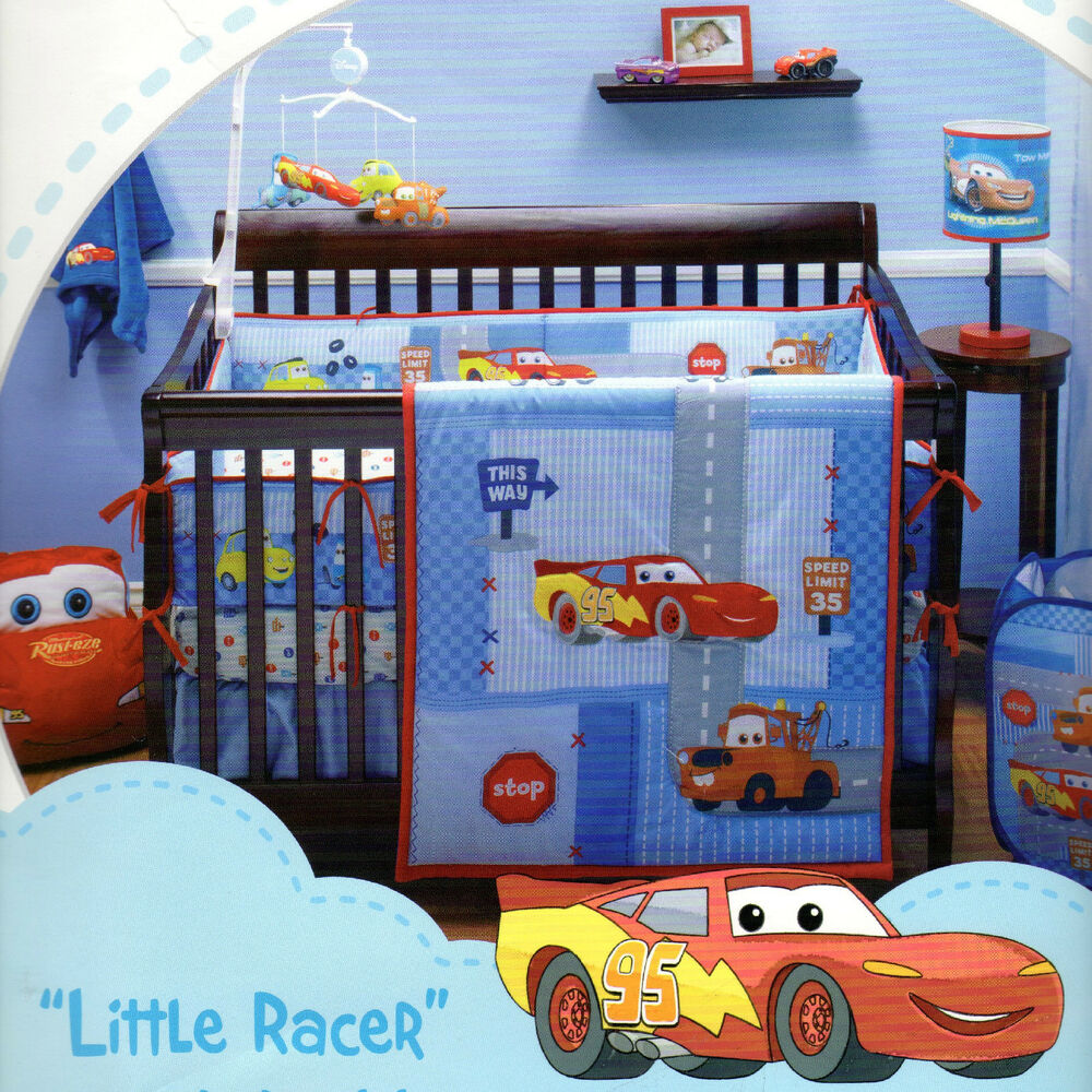 disney cars little racer 5 pc crib bedding w bumper ebay