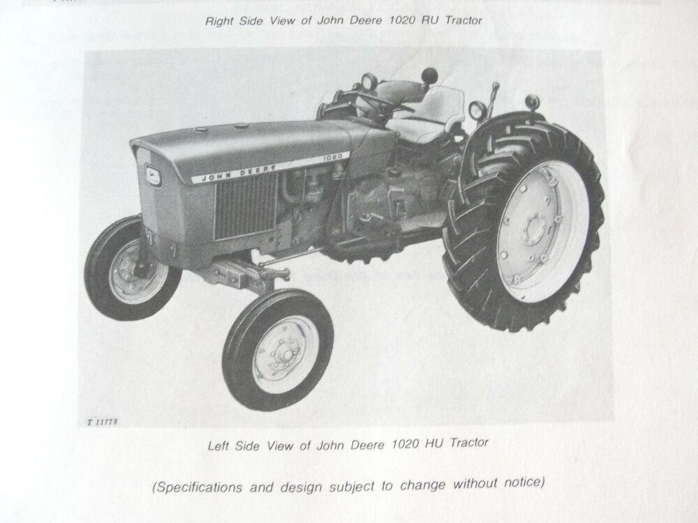 Tractor Manual Thickness : Original john deere tractor parts catalog manual with