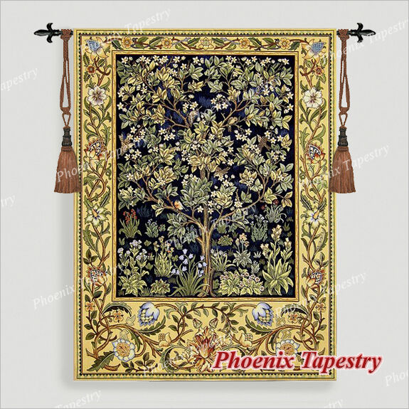 Large William Morris Tree Of Life Tapestry Wall Hanging