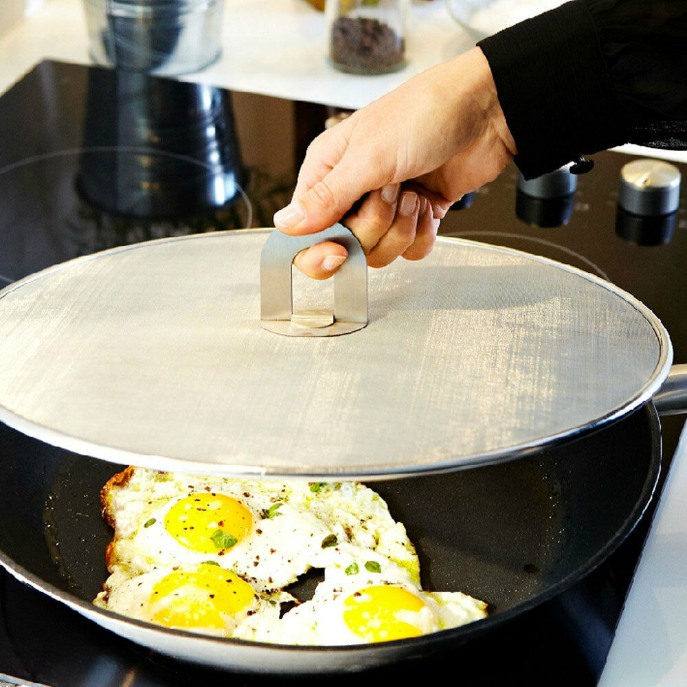Oil Proofing Lid Cover Frying Pan Splatter Screen With