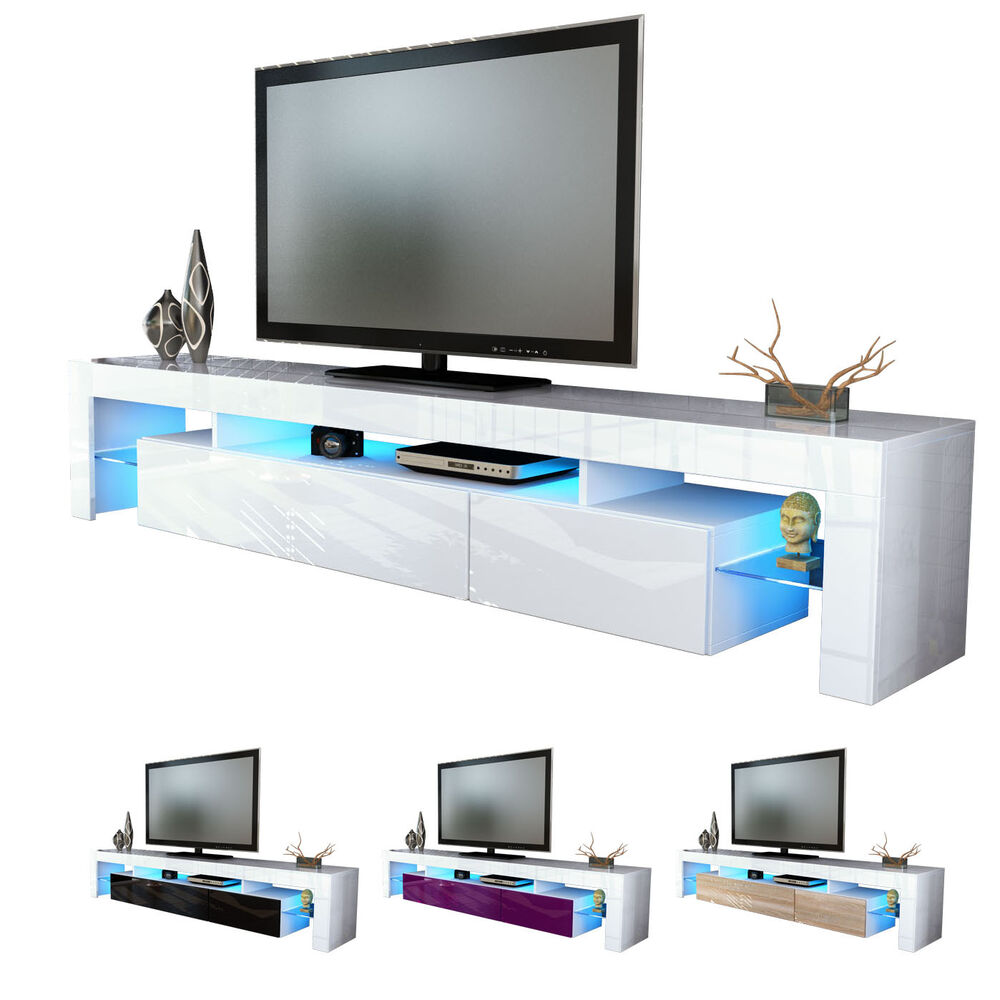 New white high gloss tv stand media entertainment center White tv console