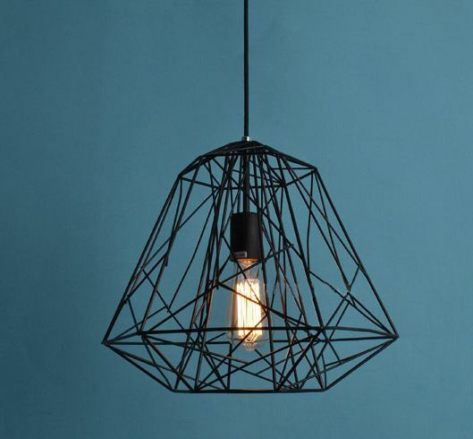 modern design industrial diy metal ceiling lamp light pendant edison bulb black ebay. Black Bedroom Furniture Sets. Home Design Ideas