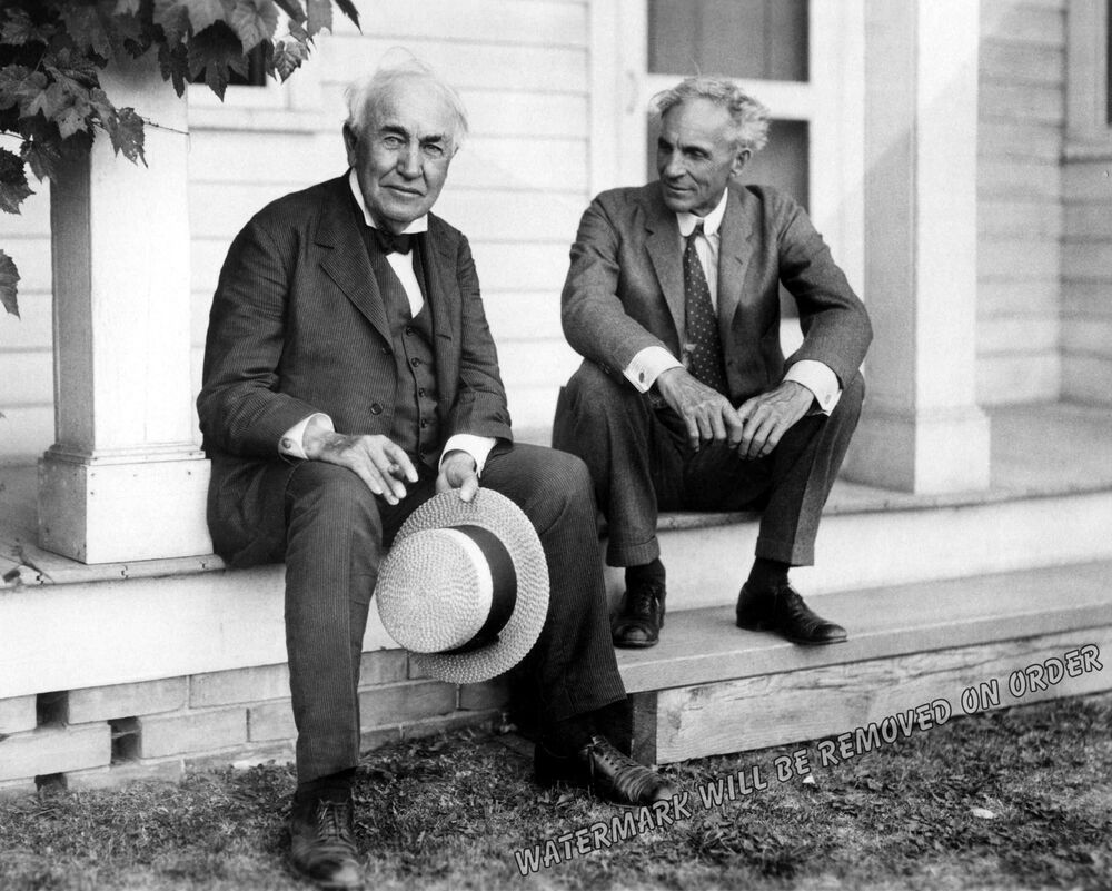 Photograph inventors thomas edison henry ford at the ford for The edison