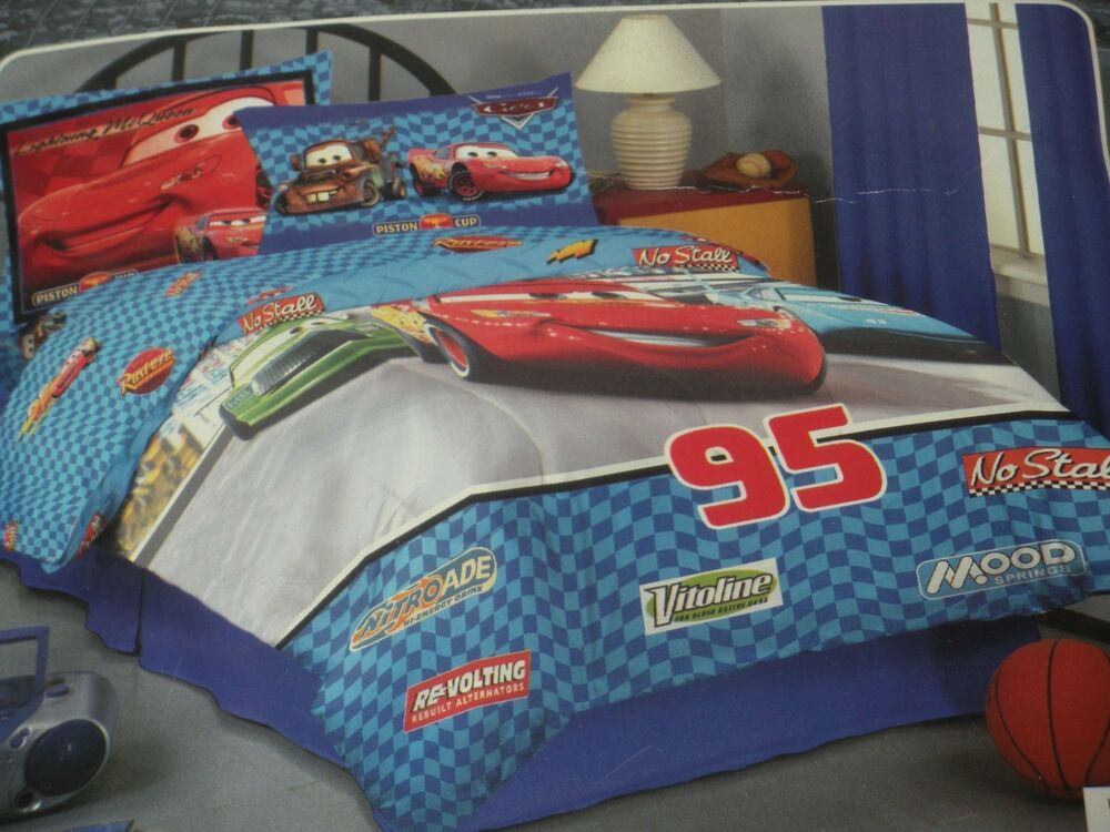cars 2 movie comforter twin full 3d plush logo mcqueen bedding disney