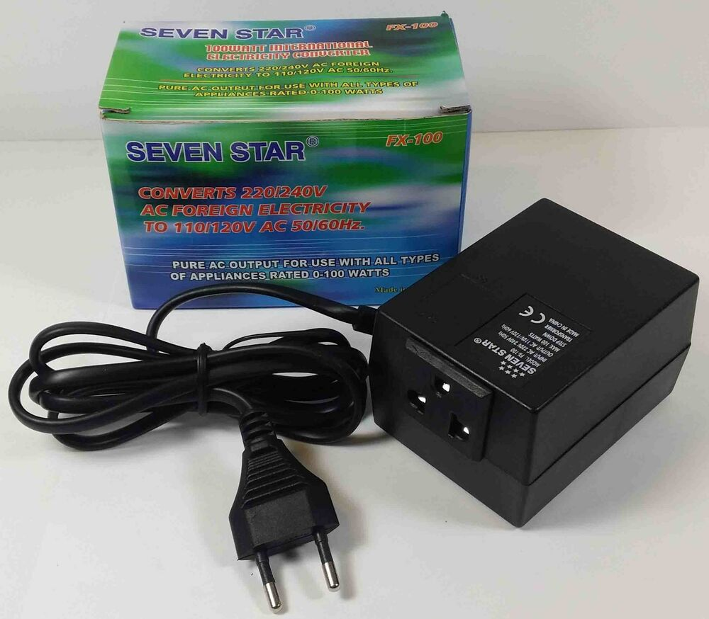 Electric Power Converter : Foreign electricity v to w travel converter