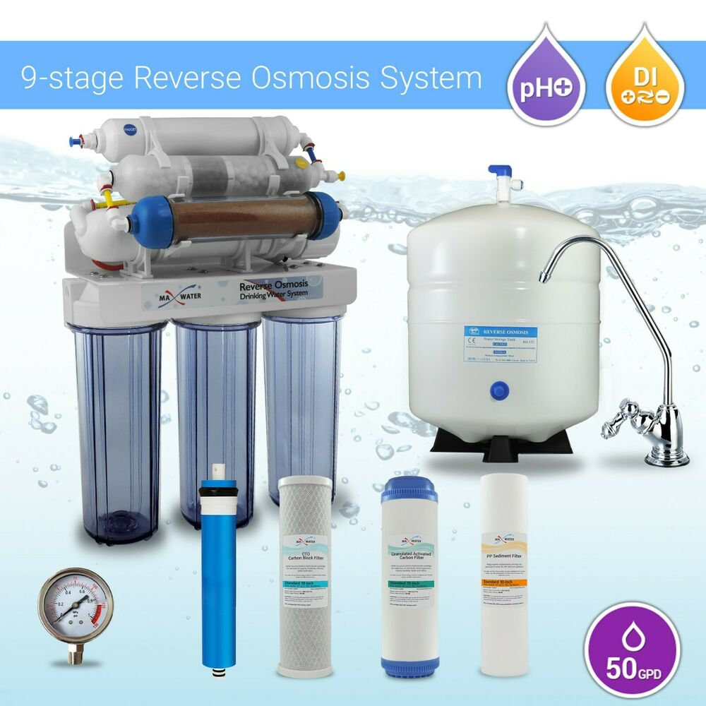 9 Stage Home Ro Di Reverse Osmosis Water Filter System