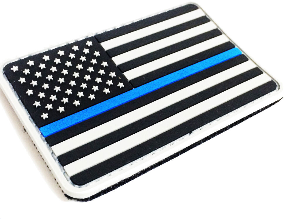 us made subdued us flag thin blue line 3d pvc morale 2x3 patch police ebay. Black Bedroom Furniture Sets. Home Design Ideas