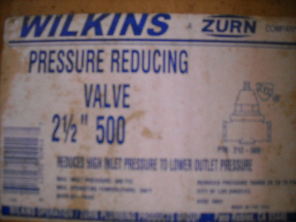 wilkins zurn 500 2 5 inline water pressure regulating valve 2 1 2 ebay. Black Bedroom Furniture Sets. Home Design Ideas
