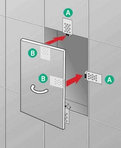 Tiled Magnetic Catches Access Panel Kit Control Hatch
