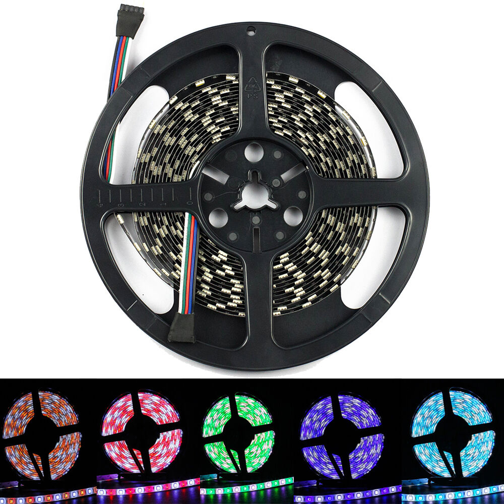5050 smd 5m 300 led strip light rgbw rgb warm cool white ip65 waterproof ebay. Black Bedroom Furniture Sets. Home Design Ideas