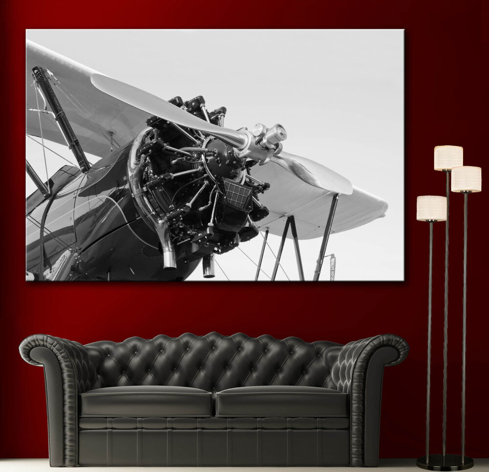 1943 Propeller Airplane N5729n Engine Canvas Print Wall