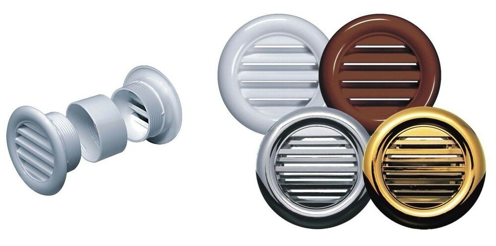 Mini Circle Air Vent Grille Door Round Ventilation Cover