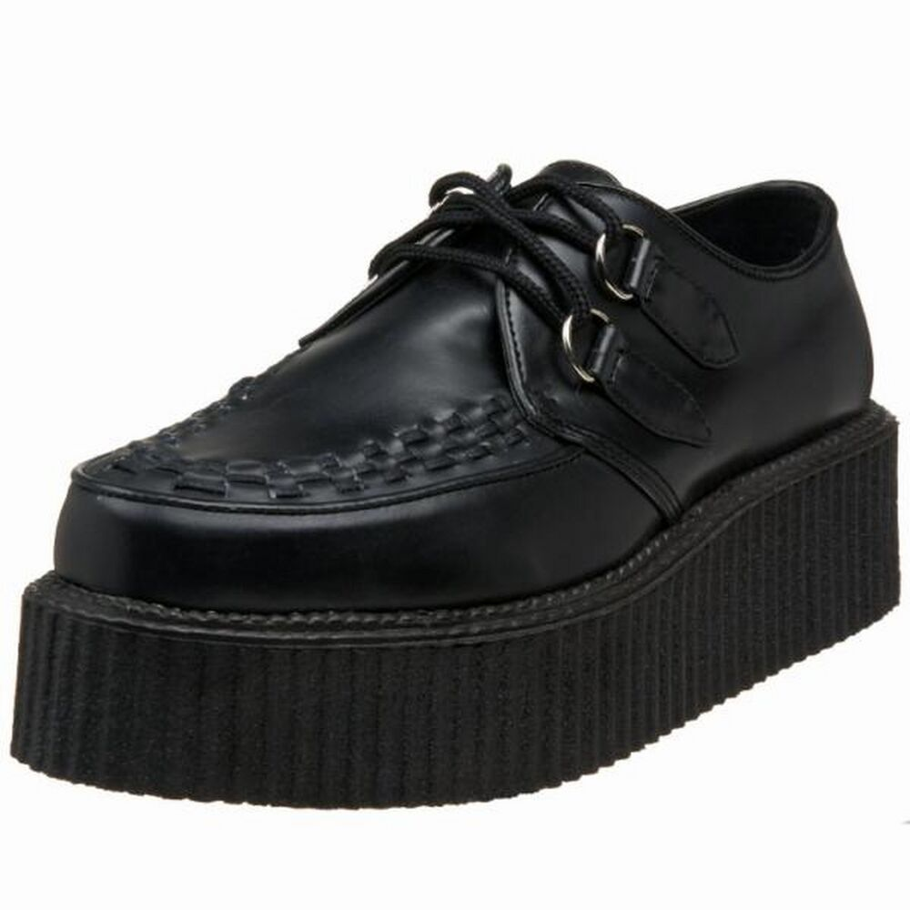 Shop Original T.U.K. Men's Creepers - Velvet Creepers, Pointed Toe Creepers, Slip-On Creepers, Platform Creepers, Creeper Boots & More Available in Vegan Friendly Material But Also Real Leather & Suede. Get Our Punk, Rock and Goth Creeper Platforms & Boots for Everyday Wear, EDM, Raves, Concerts or Festivals.