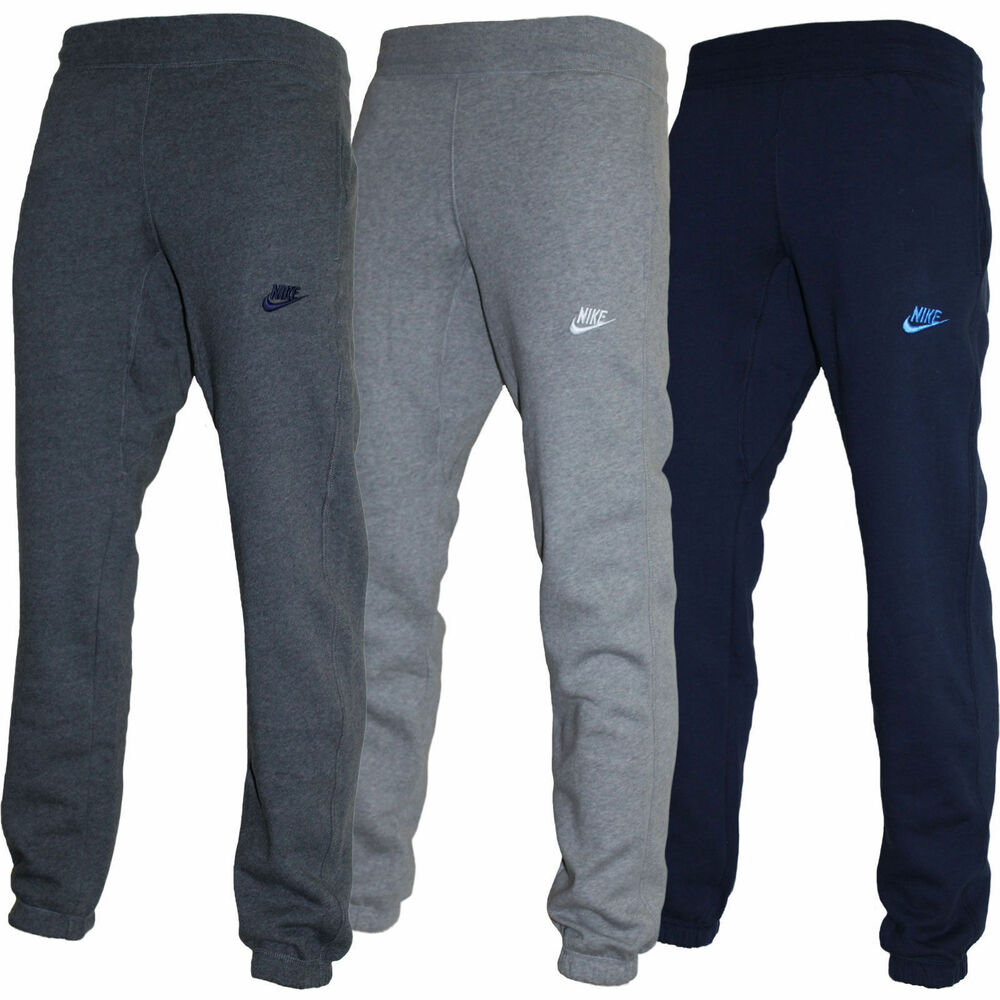 new men 39 s nike fleece tracksuit jogging bottoms ebay. Black Bedroom Furniture Sets. Home Design Ideas