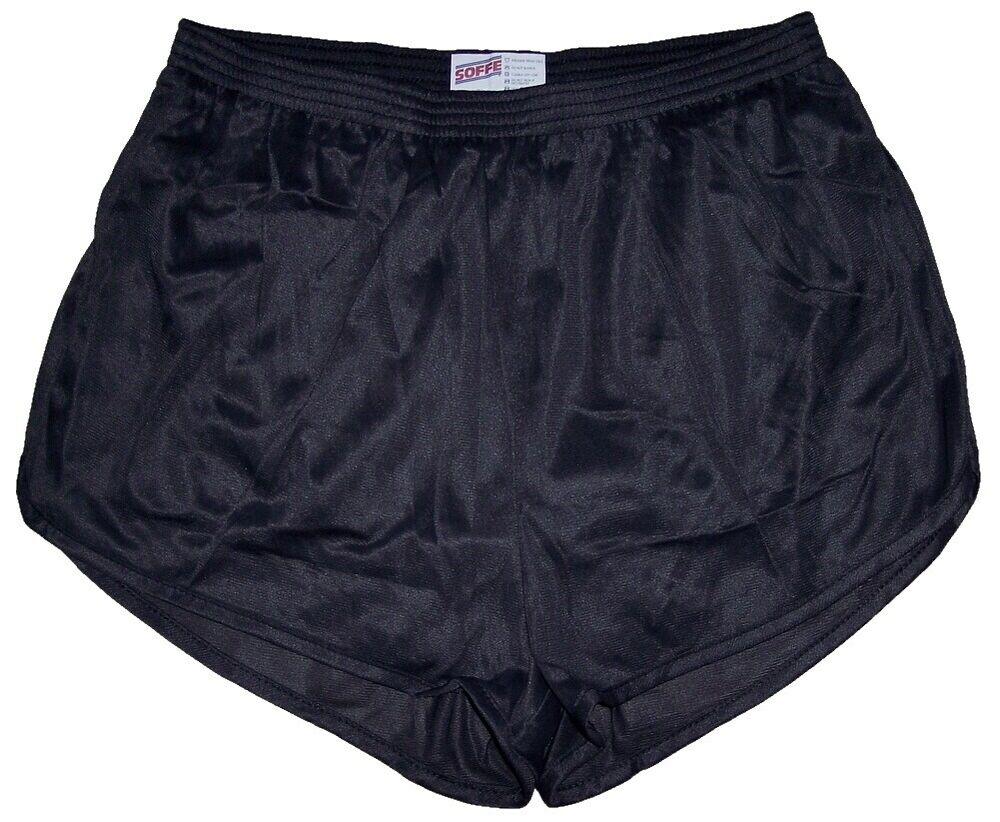Details about Soffe Black Nylon Ranger Panties   Silkies   Running   Track  Shorts Men s Large faedac39d3