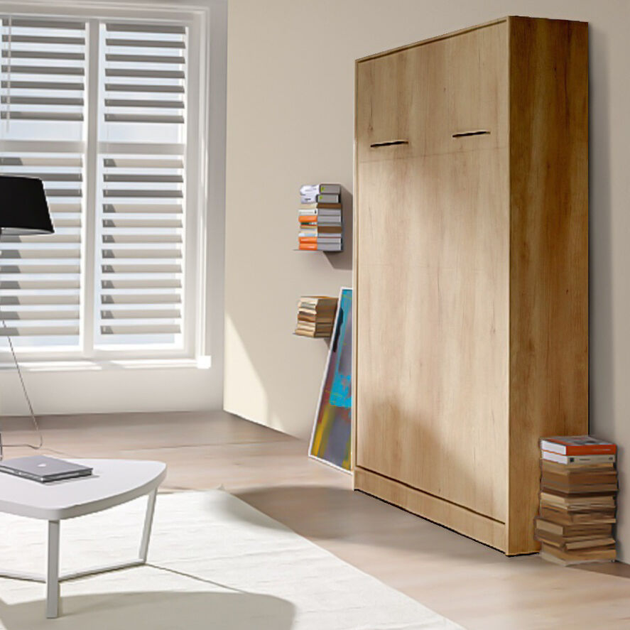 Vertical wall bed murphy bed fold down bed hidden bed - Bed that folds down from wall ...