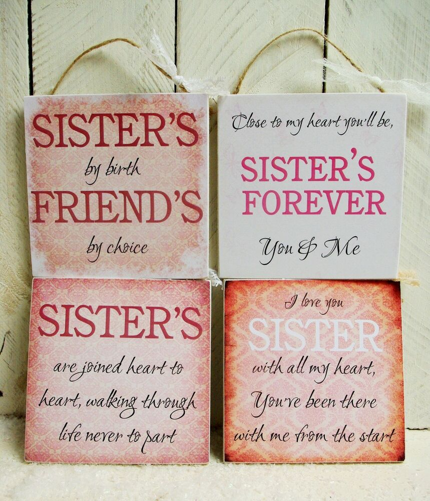 Quote Plaques: Handmade Plaque Sign Gift Present Sister Sayings Quotes