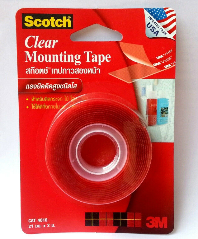 clear mounting vhb tape permanent scotch 3m 4010 21mm x 2m