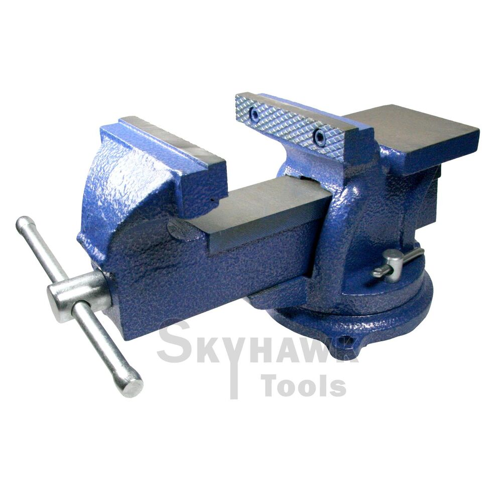4 39 39 Bench Vise With Anvil 4in Locking Swivel Base Table