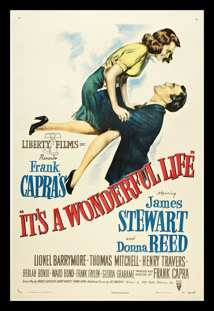 Its A Wonderful Life Vintage Movie IAW01 POSTER ART PRINT ...