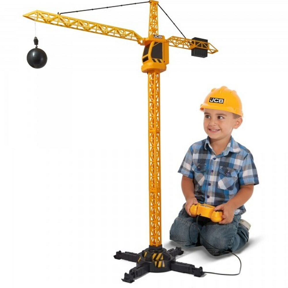 Toy Cranes For Boys : Jcb remote control tower crane children s construction